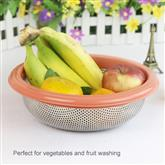 Round design stainless steel leakage rice sieve vegetable colander kitchen tools multifunctional bas