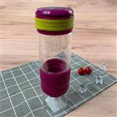 Glass Newest Leak Proof Portable Infuser Sports Water Bottle Health Juice Fruit Squeezer Tumbler