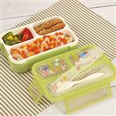 3 or 4 grids large bento style meal prep bento lunch box