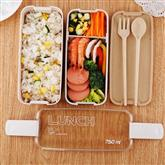 750ml Healthy Material 2 Layer Lunch Box Wheat Straw Bento Boxes