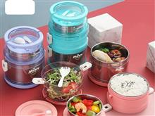 1.5L 2.1L 304 Stainless Steel Lunch Box Food Container Set